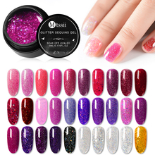 5ml Holographic Glitter Nail Gel Polish Shiny Laser Sequins Pink Purple Color Soak Off UV Art Lacquer Manicure
