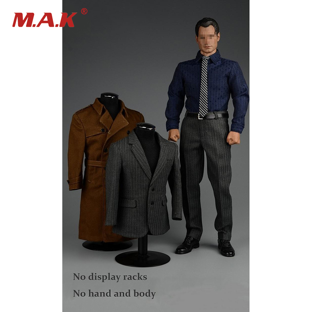 1/6 Scale Strong Gentleman Suit For 12 Man Action Figure V1007 vortoys v1005 1 6 the british gentleman suit 2 0 in a black b gray c stripe for 12 beckham collectible action figure diy