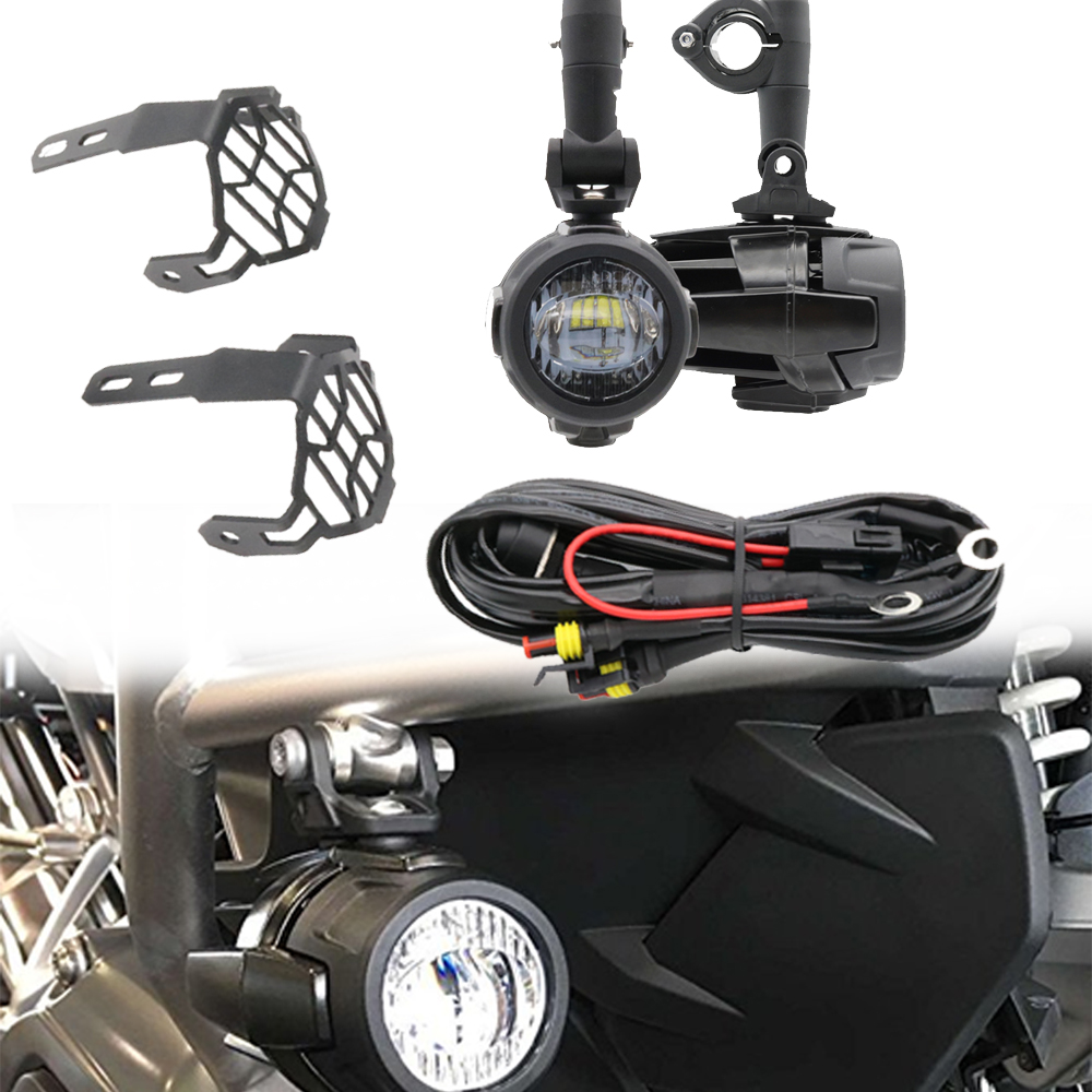 for bmw r1200gs f800gs motorcycle 40w universal led auxiliary fog lamp lights assembly for ktm suzuki [ 1000 x 1000 Pixel ]