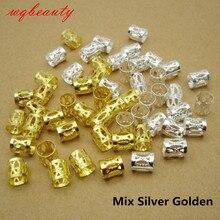 100 шт./лот, золотые/серебряные/микс, серебряные, золотые, микро волосы, страшные косы, дредовые бусины, регулируемые манжеты, заколки для волос, аксессуары