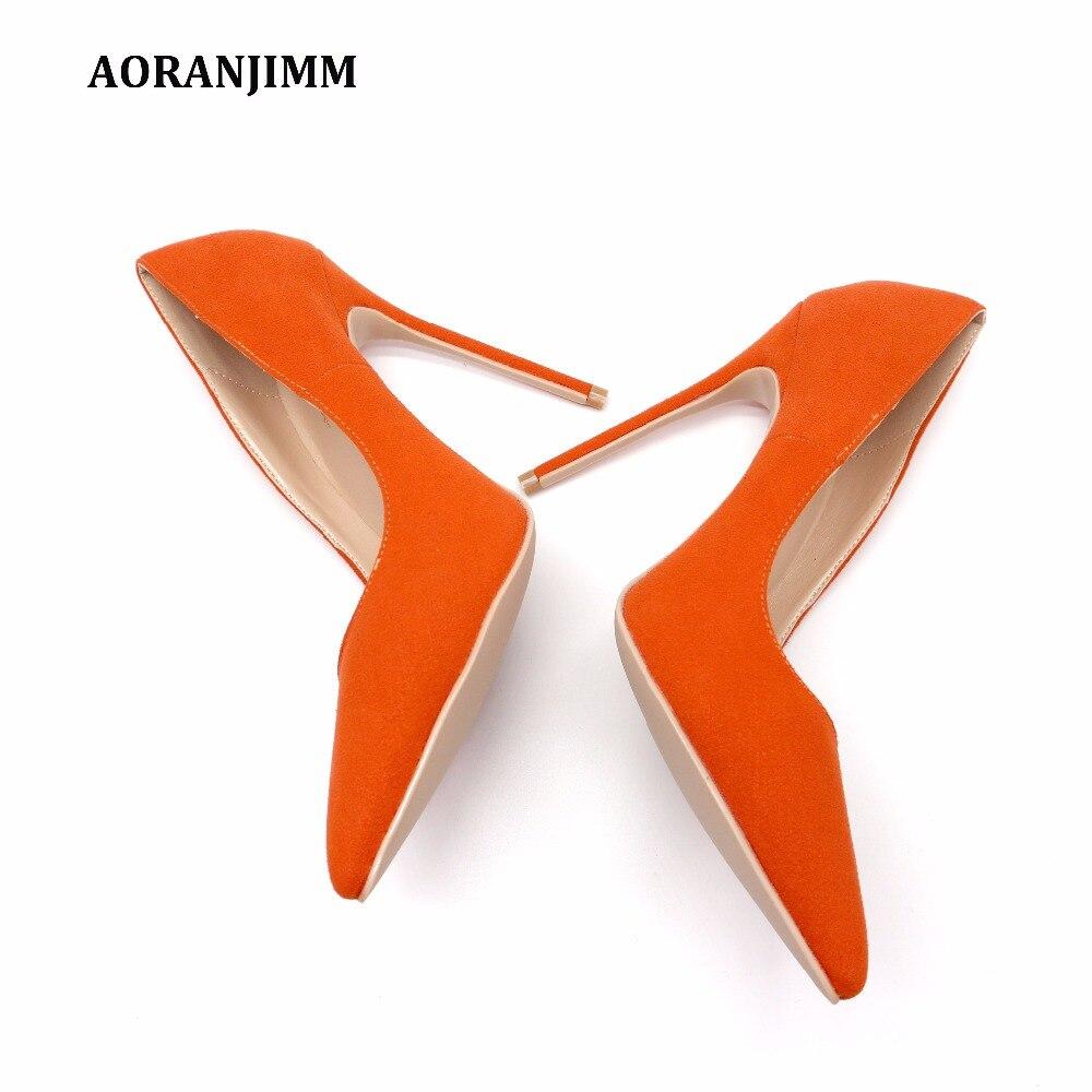 Orange 42 À Chaude 34 Livraison De Véritable 120mm Cuir Talons Chaussures Bout Taille 44 Pompe Lady Vraie Pointu Heel Hauts Image Suède 43 10cm 8cm 12cm 33 Gratuite En Heel Femmes Heel TBqOBtw