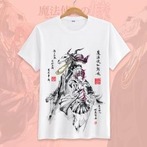 Image 1 - New Anime Mahoutsukai no Yome  Cosplay T shirt Hatori Chise T Shirt cotton Short Sleeve Tops Tee