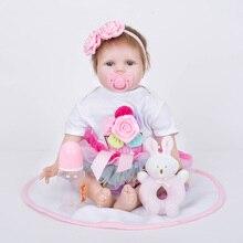 Renascer Do Bebê de 55 cm Silicone Bonecas Reborn para Crianças Crianças Brinquedos de Pelúcia para Presente de Natal Meninas Bebes SB5541 Bebe-renascer-menino