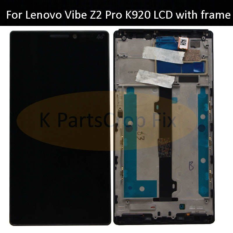 For 6 0 Lenovo Vibe Z2 Pro K920 LCD Display Touch Screen Digitizer Assembly With Frame