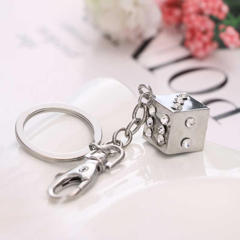 2017 NoEnName_Null New fashion white cute magic cube bag key ring birthday gift free shipping
