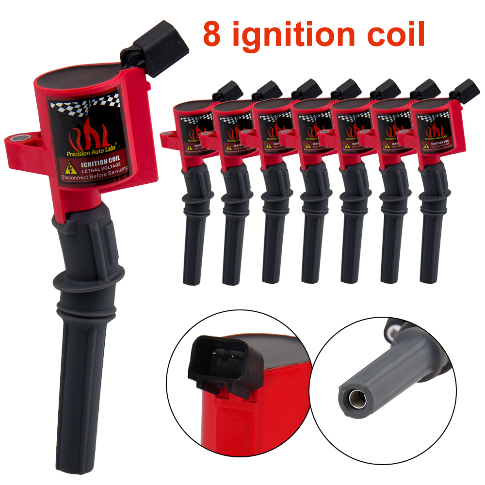 Pack of 8 Curved Boot Ignition Coil for Ford for Lincoln for Mercury 4 6L 5 4L V8 Compatible with DG508 C1454 C1417 FD503 in Ignition Coil from Automobiles Motorcycles