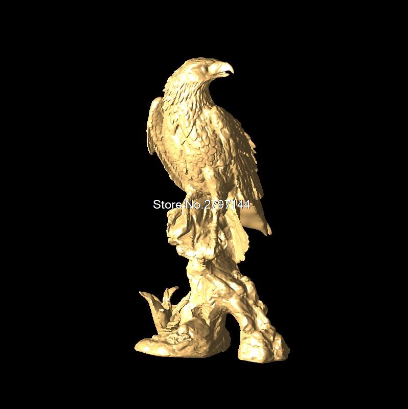 Eagle 3D Model STL relief for cnc STL format Furniture Eagle 3D STL format furniture decoration locket 16 for cnc in stl file format 3d model relief