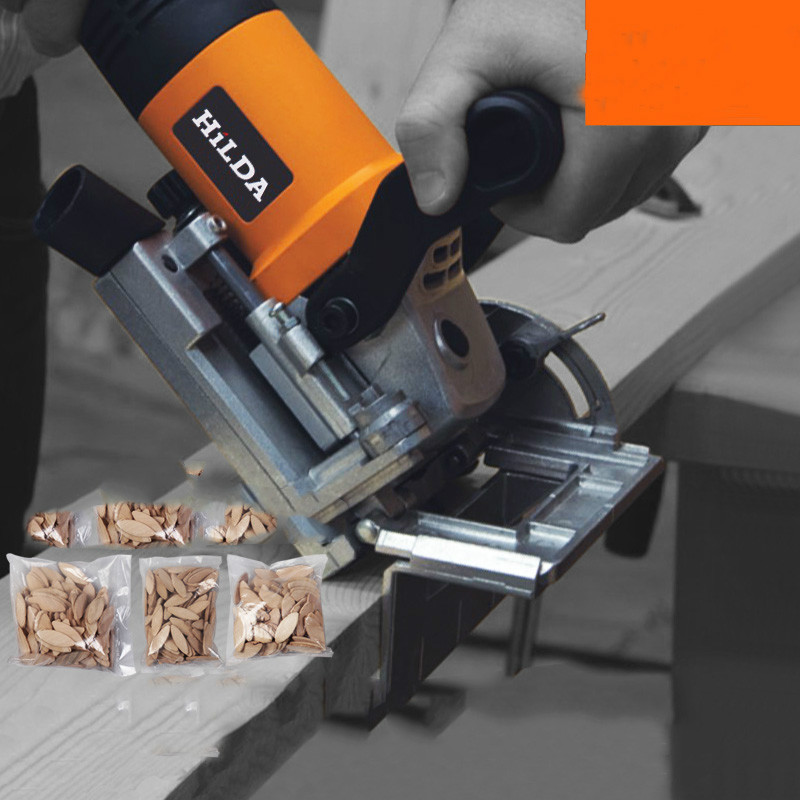 760W Biscuit Jointer Electric Tool Authentic Woodworking Tenoning Machine Biscuit Machine Puzzle Machine
