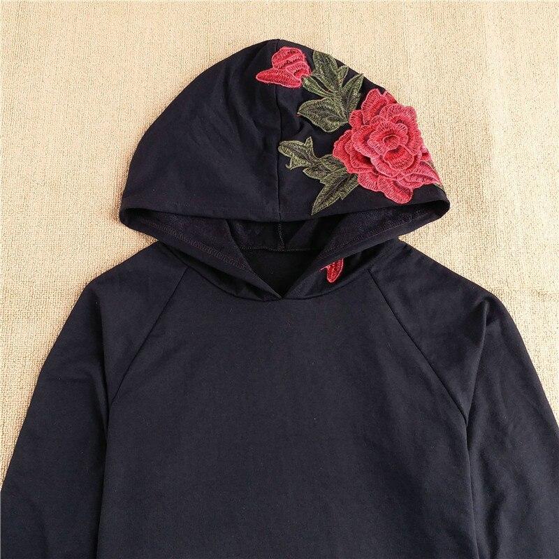 HTB1hAGqRVXXXXcjXXXXq6xXFXXXK - FREE SHIPPING Floral Black Women Sweatshirt Hoodie JKP221
