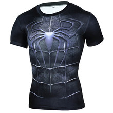 Брендовая одежда 2016 Superhero сжатия рубашка 3D футболка Капитан Америка Каратель майка Бодибилдинг Crossfit футболка