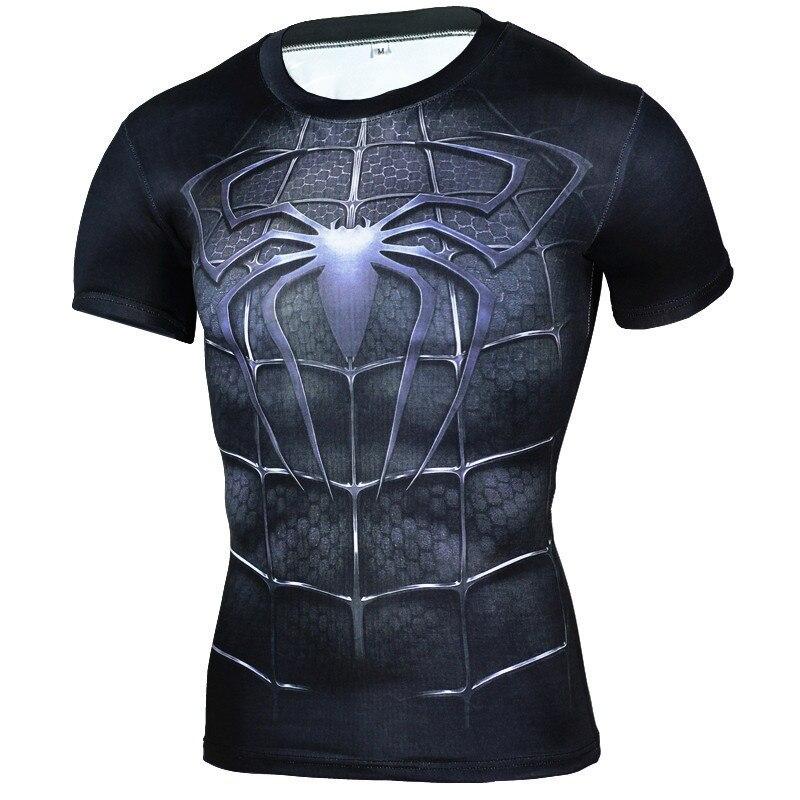 Marchio di Abbigliamento Uomini della Maglietta Supereroe Compressione T-Shirt Maglietta 3D Black Panther Tshirt Bodybuilding Crossfit