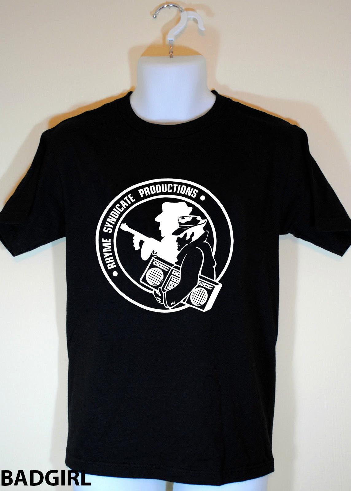 Rhyme Syndicate Ice-t Power era 80s hip hop screen stars rap Shirt S-XXL