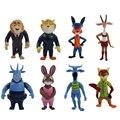 Disney Brinquedos para As Crianças Crianças Presente de Natal Aniversário Menino Zootopia Figuras de Ação Dos Desenhos Animados Figuras Bonecas Judy Nick Juguete Brinquedos