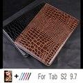 1:1 para samsung galaxy Tab S2 9.7 T815 T810 Soporte de Negocios Cubierta de Cuero de la tableta para la Lengüeta de Samsung S2 9.7 + film + pluma