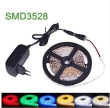 5m SMD3528 LED Strip DC12V LED Light 300leds Single Color Flexible LED Tape Light With 2A Power Supply NO waterproof