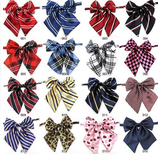 100pc lot New Colorful Handmade Adjustable Large Dog Neckties Large Bow ties Pet Bow Ties Cat