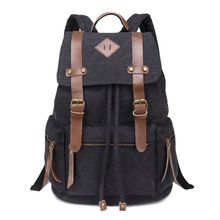 купить Vintage Canvas Backpack Rucksack Men Student Daypack for School Travel Hiking в интернет-магазине