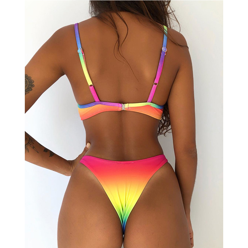 Megartico brazilian bikini 2019 string floral print bathing suit push up underwire sexy swimming suit for women two piece 2