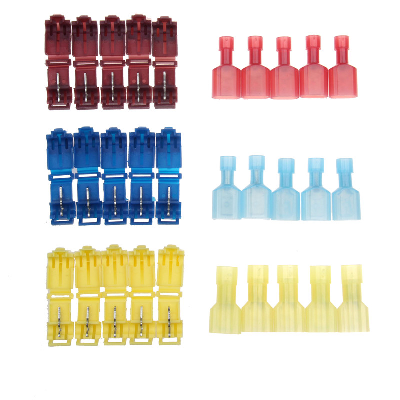5Pairs 22-10AWG Wire Terminals Kit Electrical Wire Connectors Terminals Crimp Quick Splice Tool Set For 0.5-4.0mm2