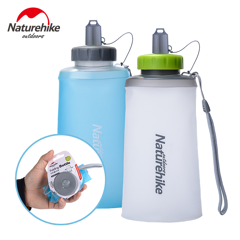 Naturehike Factory Store Creative Collapsible Foldable Silicone Drink Sports Water Bottle Camping Travel Bicycle Bottle