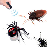 Funny Simulation Infrared RC Remote Control Scary Creepy Insect spider Toys Halloween Electronic pets Gift