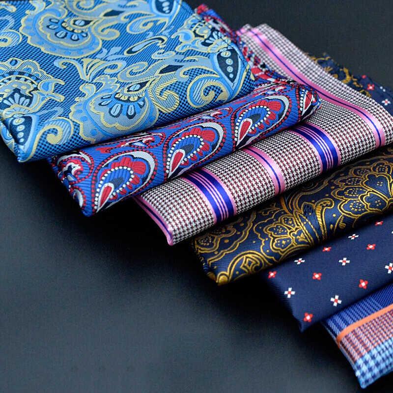 Мужской модный мужской Карманный платок Квадраты Hanky Цветочные турецкие огурцы, жаккардовый повседневный костюм в горошек полосатое полотенце шарф для деловой свадьбы