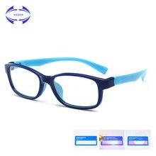 VCKA дети анти-синий светильник очки Рамка девочка игра защитные очки мальчик силиконовый детский ультра светильник очки TR90 компьютер