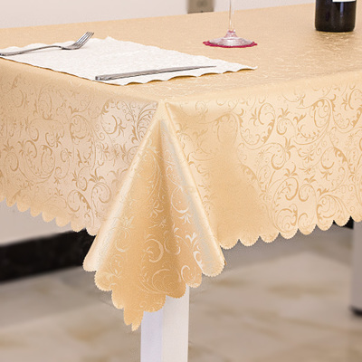 High quality waterproof table cloth anti hot oil Kitchen accessories Decoration Rectangular Round table cloth Free shipping in Tablecloths from Home Garden
