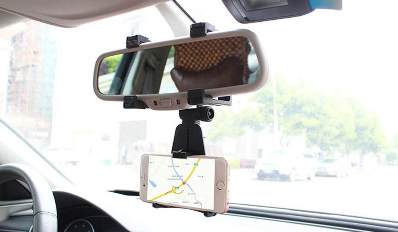 Adjustable Rotary GPS Mobile Phone Car Auto Rearview Mirror Mount Holders Stand For Xiaomi Redmi 4