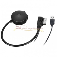 2pcs/Media In AMI MDI to Bluetooth Audio Aux & USB Female Cable for Car VW AUDI A4 A6 Q5 Q7 Before 2009