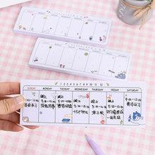Agenda planejador semanal material escolar papelaria papelaria cuadernos mini planificador semanal material escolar de escritório