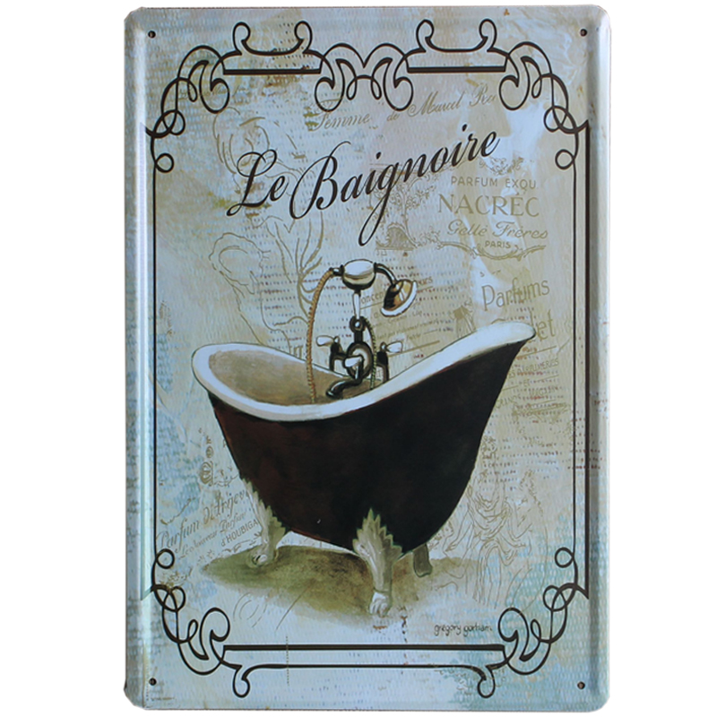 compare prices on tin bathroom signs online shopping buy low. Wall Art For Bathrooms Plaques  jeweled flower metal wall art