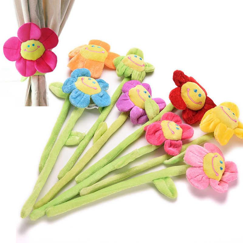Kartun Tirai Klip Bunga Matahari Mewah Fleksibel Tieback Mainan Home Dcor Indah Gadis Hadiah Sunflower Plush Cartoon Sunflowerssunflower Toy Aliexpress