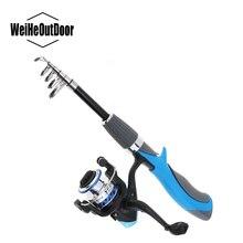 1.4M Mini Transportable Fishing Rod Combo Telescopic Ice Rock Fishing Rod and Spinning Fishing Reel