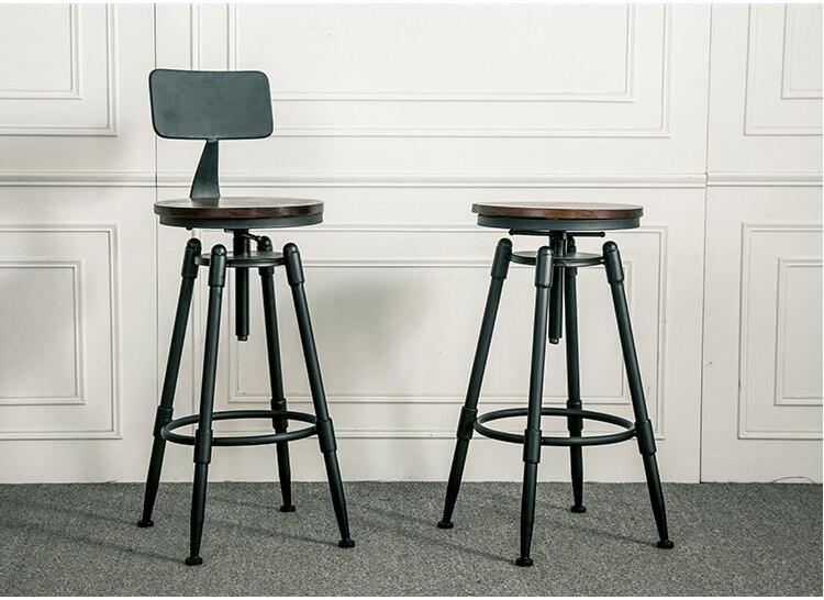 Americain En Fer Forge Chaise De Bar Design Industriel Rotatif Ascenseur Chaises Hautes Repas Dans Meubles Sur AliExpress