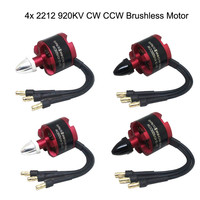 4x 2212 920KV CW CCW Brushless Motor For DJI F330 F450 F550 X525 Quad Multi Use