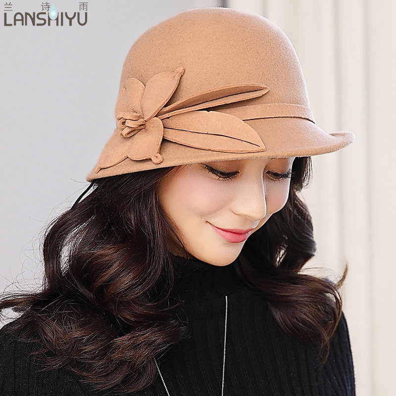 Women Fedoras Winter Vintage Felt Festival Party Wedding hat Women Fascinators Pillbox Wool Hat