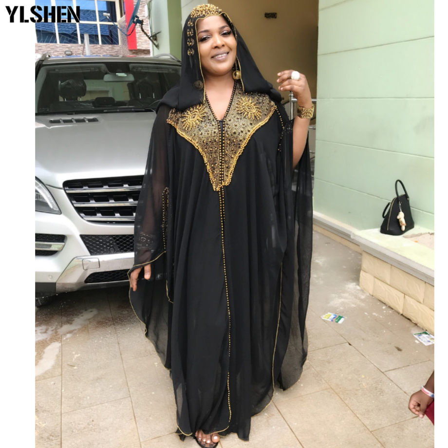 African Dresses for Women 2019 New African Clothes Dashiki Diamond Grand Boubou Africaine Femme Robe Bazin Riche Africa Dress