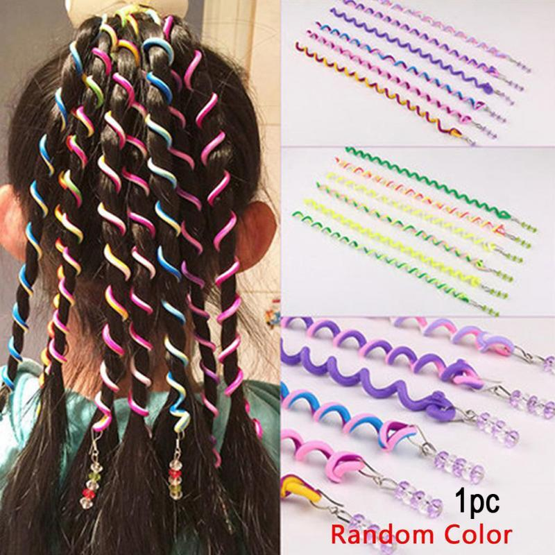 1pc Plastic Long Styling Barber Salon Tool Hairdressing Spiral Hair