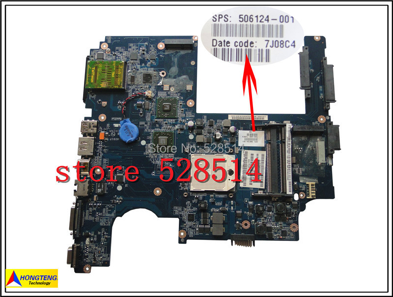 original 506124-001 for hp compaq Pavilion DV7 DV7-1000 Series laptop Notebook PC motherboard systemboard 100% Test ok free shipping ems 48 4st10 031 681999 001 laptop motherboard for hp pavilion dv7 notebook pc