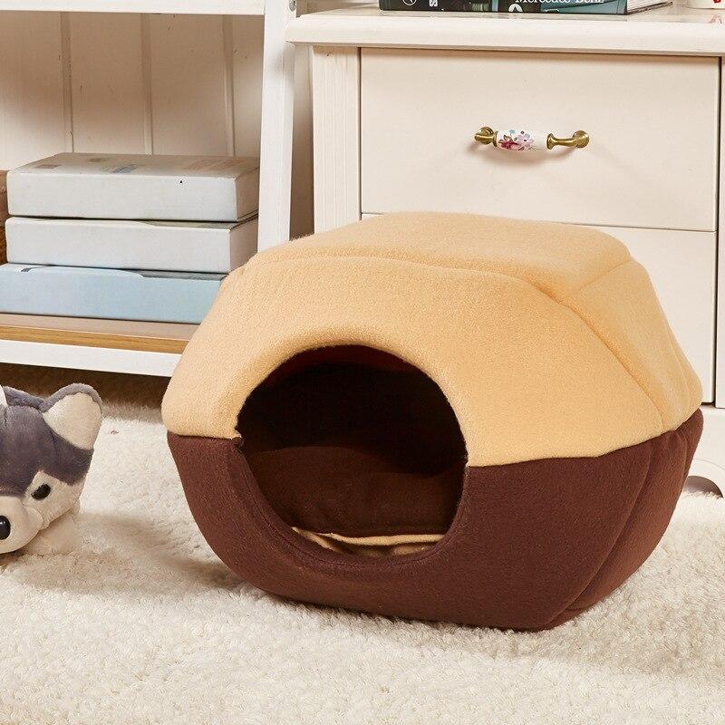 Dupplies Pet Bed дом кошка собака пещера складной щенок спальный коврик гнездо кровати любимчика 2 UsesDog Одеяло Животного сна кошка Кровать Дом