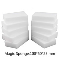 100pc Free Shipping Durable Magic Nano Sponge Eraser 10 6 2 5 Cm White Melamine Sponge