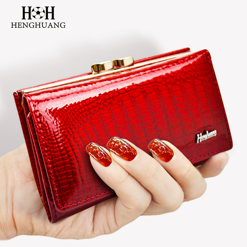 HH Women Wallet Genuine Leather High Quality Hasp Coin Purse 100% Cowhide Fashion Female Clutch Purses Card Holder Wallets high quality floral wallet women long design lady hasp clutch wallet genuine leather female card holder wallets coin purse