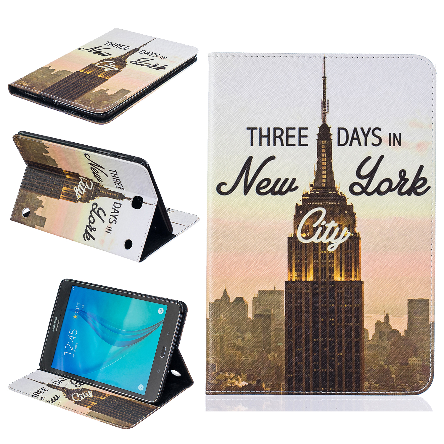 For Samsung Galaxy Tab A 9.7 T550 T555 PU Leather Cover Case For Galaxy Tab T377 T280 T560 T561 T715 T815 T350 T355 T280 #