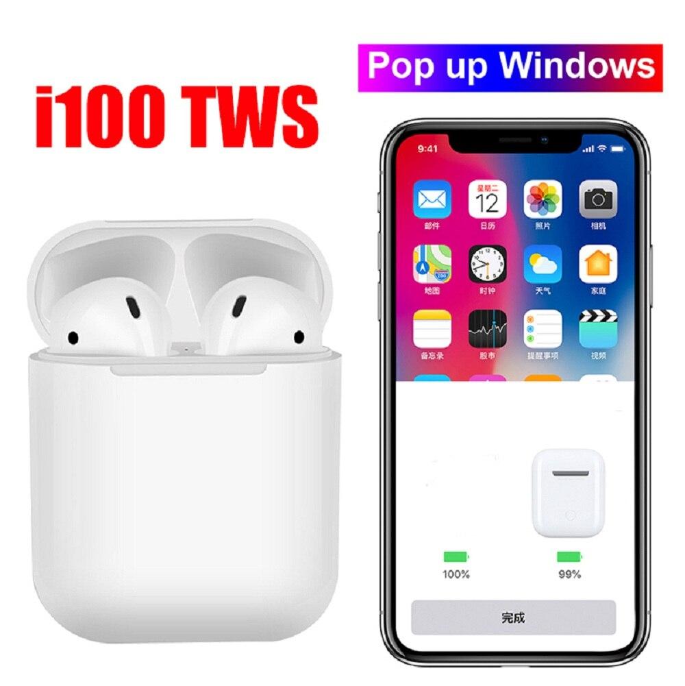 I100 tws Air Bluetooth détection des écouteurs Pop up BT5.0 TWS écouteurs avec charge sans fil PK i10 i12 i30 i60 i80 i90 i100 TWS