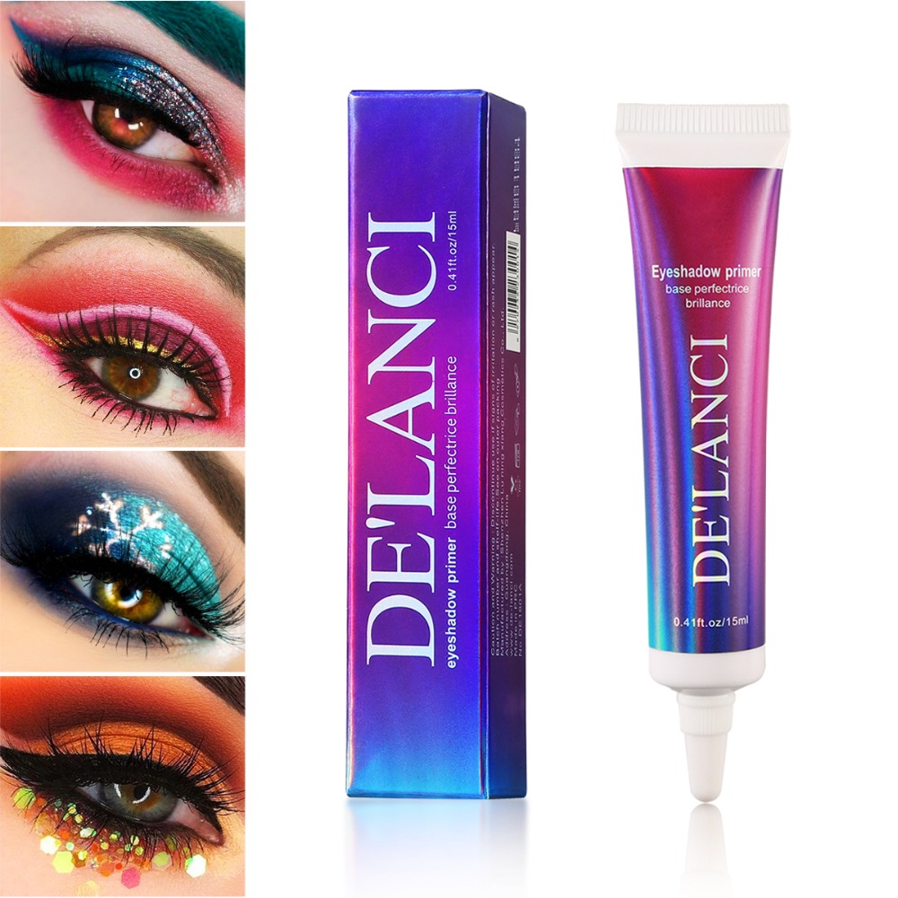 DE'LANCI Eyeshadow Primer Matte Base Long Lasting Color Glitter Eyeshadow Glue Cream Enhance Durable Eye Makeup Oil Control image