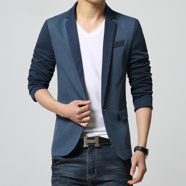 2016 o período de primavera e outono e o novo código splicing lazer moda blazer dos homens blazer