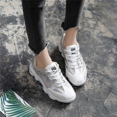 Dames Augmenté Épais Sh Version 1 Fond De Vieilles Coréenne Chaussures Femmes Casual Nouvelle Super Sport Mode Automne Feu Les 6xTwWOY