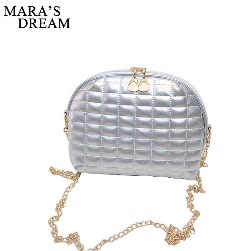 Maras Dream Small Shell Party Women Bag Fashion Plaid Shoulder Bag New Chain Strap Women Messenger Crossbody Bag