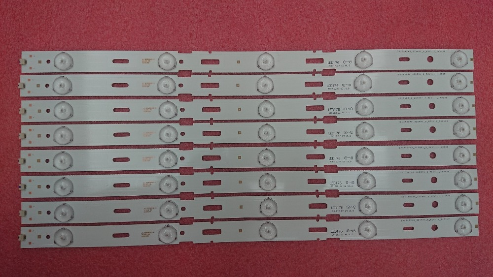 New Kit 8 PCS 5LED 428mm LED Backlight Strip For TV 40VLE6520BL SAMSUNG_2013ARC40_3228N1 40-LB-M520 40VLE4421BF